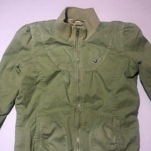 Hollister zip up lightweight jacket
